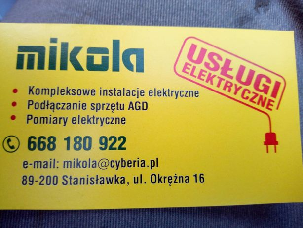 Elektryk - instalacje i usługi elektryczne, pomiary elektryczne