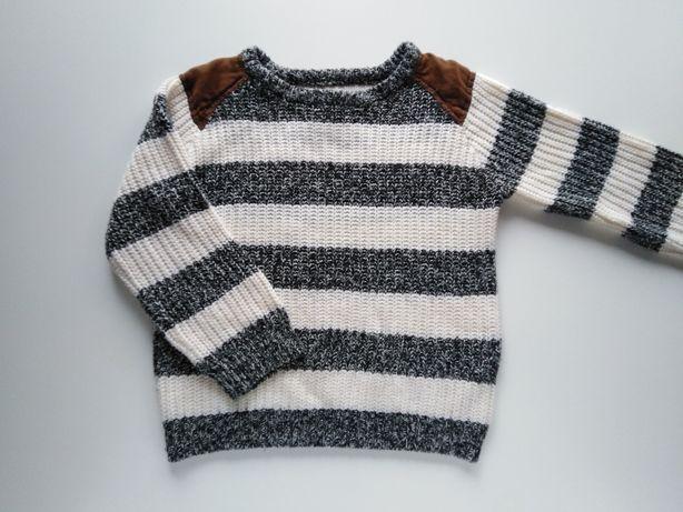 116 5-6 lat Primark piekny sweter sweterek w paski