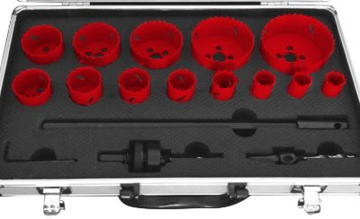 Jogo de serras craneanas HSS metal 13 peças de 19 a 76 mm +adaptador
