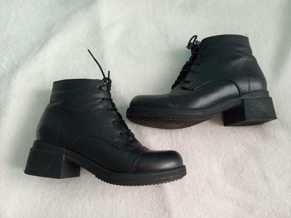 Стильні шкіряні ботиночки Полтава - зображення 1