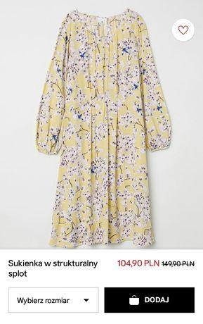 Sukienka H&M 36 nowa oversize