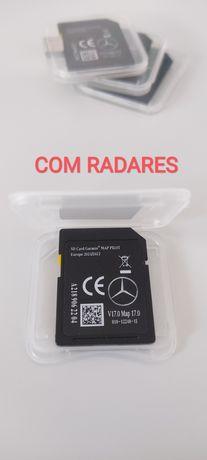 NOVO Cartão GPS Mercedes garmin map pilot NTG5 V17 2021/22 C/radares