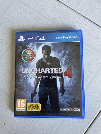 Jogo uncharted 4 o fim de um ladrao ps4