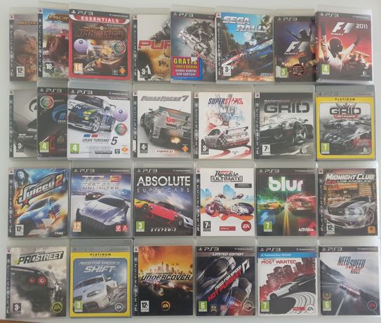 GT5,Need For Speed,Grid,Ridge Racer,Absolute Supercars,WRC PS3