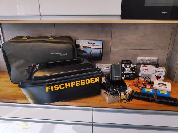 Łódka zanętowa Fischfeeder + Echosonda Toslon TF500 + Li-ion 35000mAh