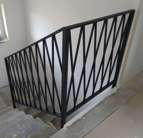Balustrada industrial loft stal czarna