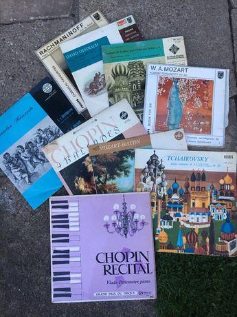 Płyty winyl.9: Haydn, Chopin,Tchaikovsky, Mozart Rachmaninof Beethoven