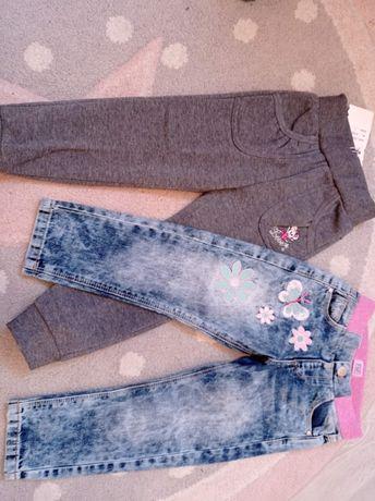 Spodnie 98 jeansy dresy