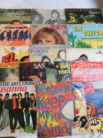 Lote 16 singles vinil - Boy George,The Art Company,Brotherhood of, etc