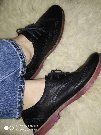 Кожаные туфли tamaris 41 размер