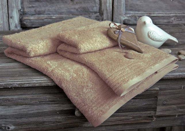 ANDROPOL 2 x Ręcznik bambusowy BAMBOO 50x100 komplet 70x140 BEŻOWY