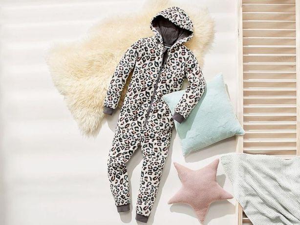 Кигуруми леопардовый ,мягкая пижама Esmara , спальный теплый костюм