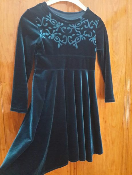 Платье детское бархатое