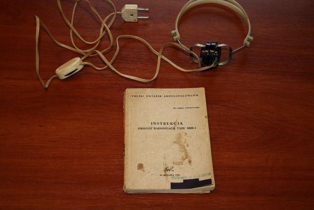 Instrukcja Słuchawki Radiostacja RBM-1 słuchawki TOH-2 1600 ohm