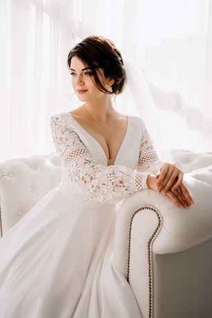 Нереальное свадебное платье в этническом стиле