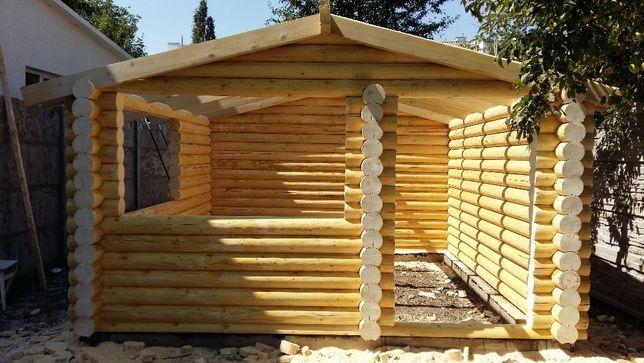 Деревянная баня дом беседка