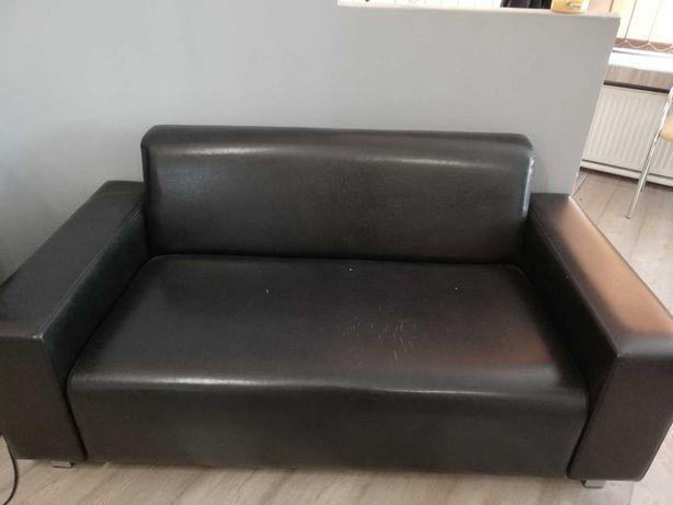 Sofa nie rozkładana 2-3 osobowa ekoskóra