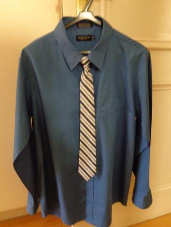 Camisa azul de algodão, tamanho M (SALDOS)