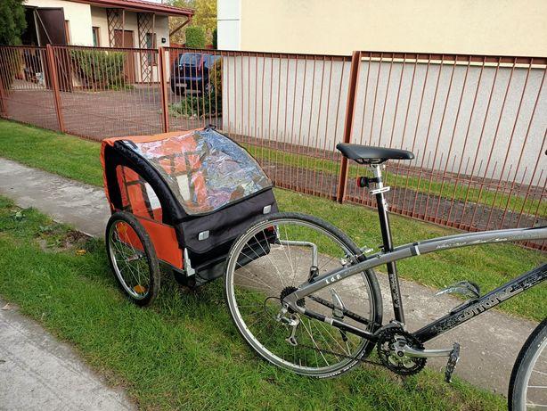 Nowa Przyczepka rowerowa na jedno lub dwoje dzieci składana
