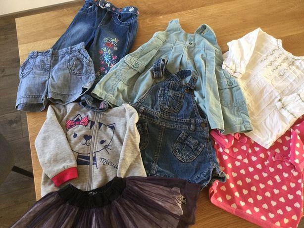 Ubranka dziewczęce 86-92. Paczka 8 sztuk