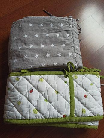 2 ochraniacze do łóżeczka, Ikea -  wymiana na truskawki