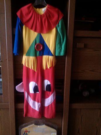 Детский карнавальный костюм клоуна петрушки