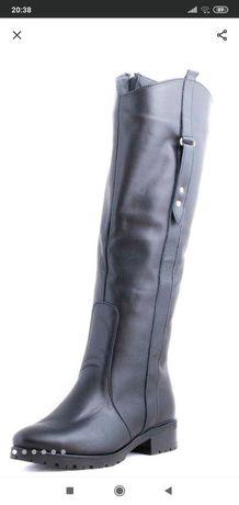 Распродажа !!! Кожаные сапоги Lev Lyubinin, шкіряні чоботи