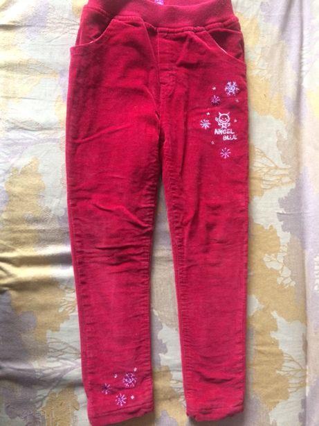 Штани легінси утеплені (на зиму) для дівчинки 7-8 років