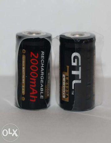 Зарядное устройство + 2 аккумулятора CR123A - GTL - 2000ma!!!