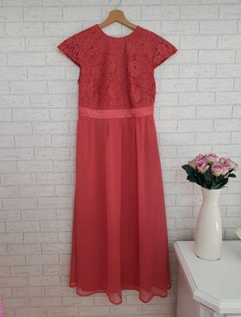 Midi sukienka koronka góra roz 44 XXL Asos nowa