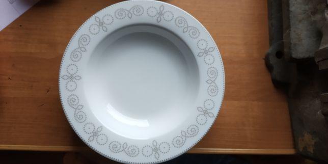 Talerze Gerlach Nowe Polska porcelana