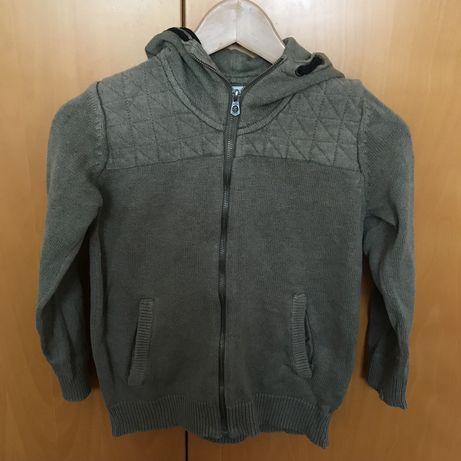 Casaco de malha verde com fecho de correr ZARA rapaz 9/10 anos 140 cm