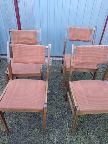 krzesla prl sztuk 4 zadbane ladne