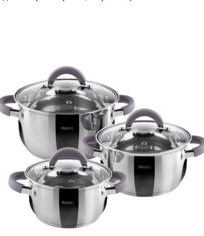Набор посуды Ringel Meyer RG-6000, 6 предметов (3 кастрюли, 3 крышки)