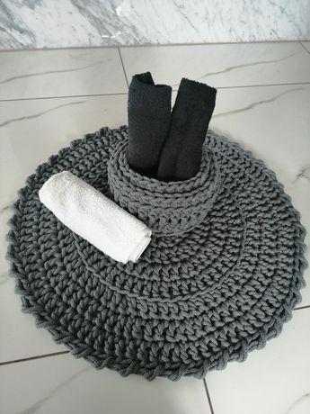 Dywanik łazienkowy sznurek bawełniany komplet