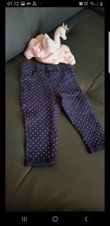 Spodnie/ leginsy w grochy 68 cool club