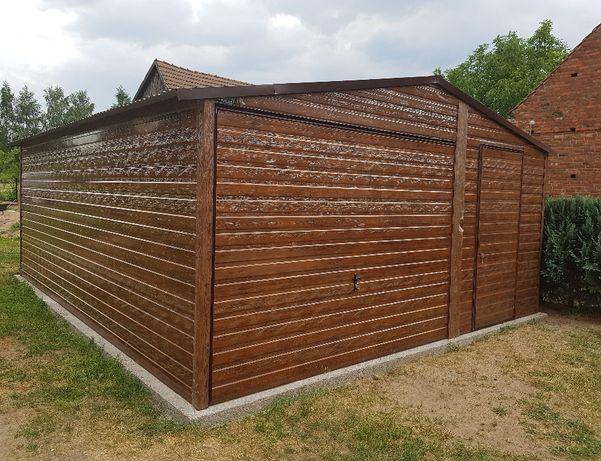 Garaż blaszany drewnopodobny 4m x 6m NOWY!!!