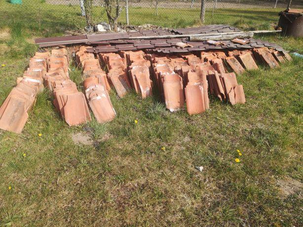 Stara dachówka z rozbiórki