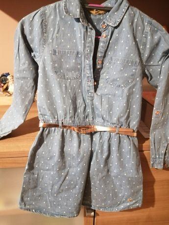 Tunika jeansowa (nowa) r. 128