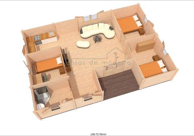 Kit Casa de Madeira T3