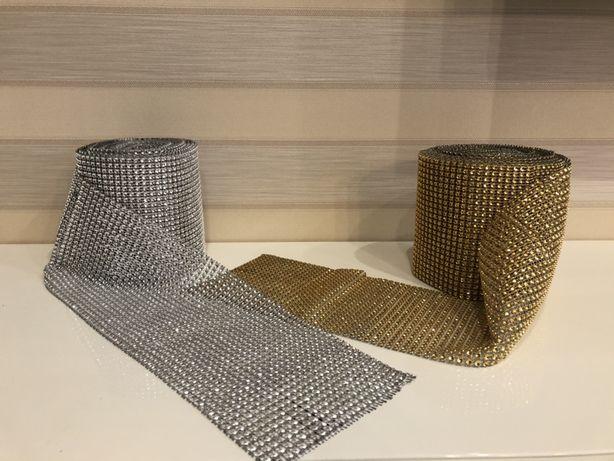 Стразовое полотно лента из страз для декора