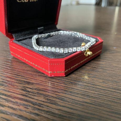 Золотой браслет с бриллиантами Теннис