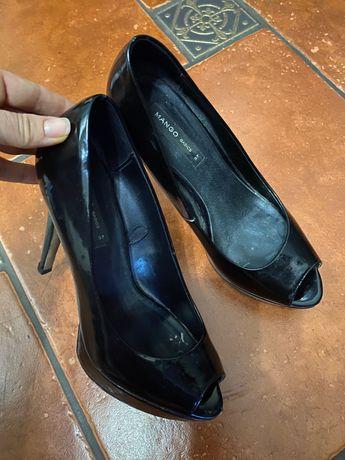 Туфли кожаные манго размер 37