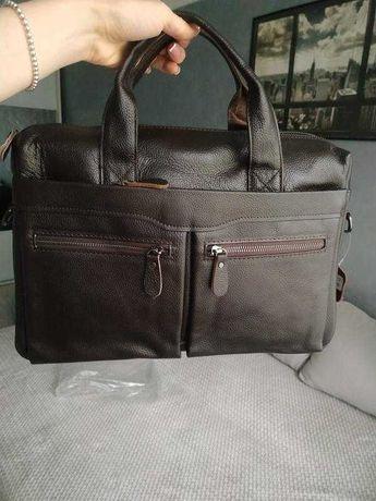 Качественная мужская сумка, портфель (натуральная кожа)