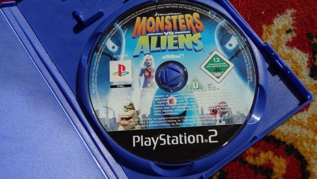 + Monsters vs Aliens + gra przygodowa dla dzieci na PS2 Potwory