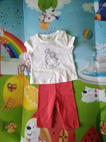 Літній костюмчик,футболка і лосіни,6-9 міс,ріст 68-74