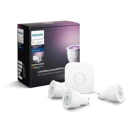 Базовый набор Philips HUE WHITE AND COLOR AMBIANCE 3xGU10 / 6,5W / 230