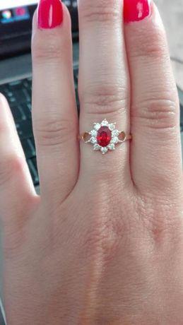 Złoty pierścionek rozmiar 12 - 585