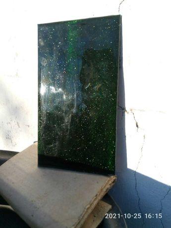 Плитка облицовочная стекло малахит 250х140 мм