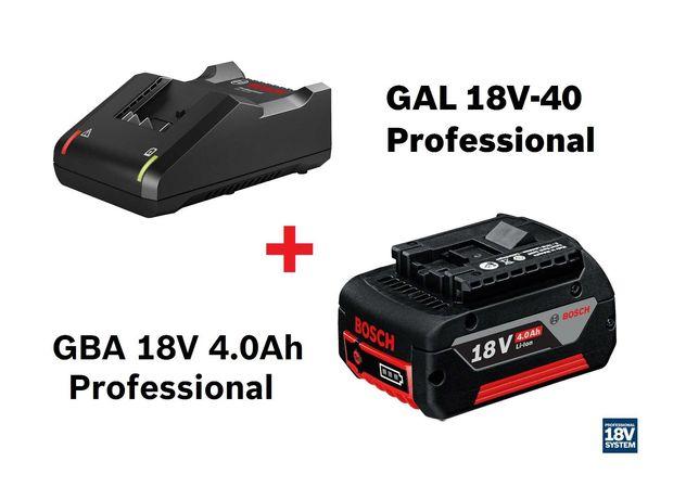 Bosch Professional Pack Carregador GAL 18V-40 + Bateria GBA 18V 4.0Ah